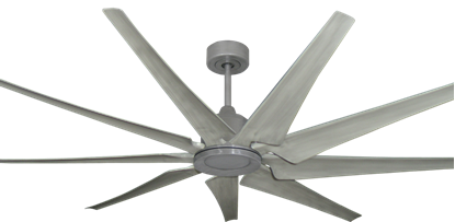 Liberator 72 in. WiFi Enabled Indoor/Outdoor Brushed Nickel Ceiling Fan with Stone Blades