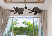 """Twin Star III Oil Rubbed Bronze with 35"""" Wicker Oil Rubbed Bronze Blades"""