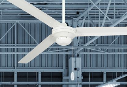 Tornado 72 in Pure White Industrial Ceiling Fan