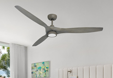 Solara 60 in. WiFi Enabled Indoor-Outdoor Driftwood Ceiling Fan with 15W LED Light and Remote