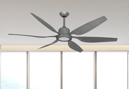 """Titan II Brushed Nickel with 66"""" Resin Brushed Nickel Blades with 18W LED Array Light and Remote"""