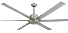 "Picture of Titan Brushed Nickel with 72"" Aluminum Brushed Nickel Blades"