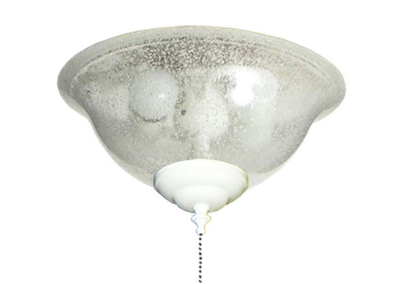 Ceiling Fan Glass Bowl Light In Seeded Glass Finish 133