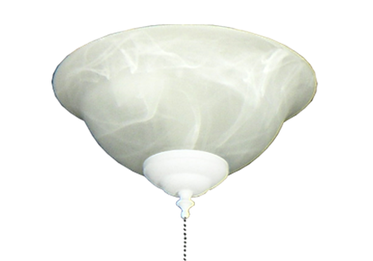 Picture of 130 Glass Bowl Light in White Scavo