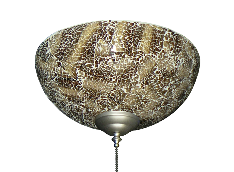 Ceiling fan specialty glass bowl light with brown crackle finish picture of 2264 brown crackle finish hand made specialty glass bowl light aloadofball Gallery