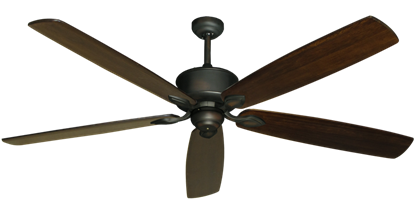 "Picture of Hercules Oil Rubbed Bronze with 72"" Series 750 Arbor Dark Walnut Blades"
