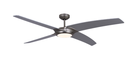Picture of Starfire 56 in. Brushed Aluminum Ceiling Fan with LED Light