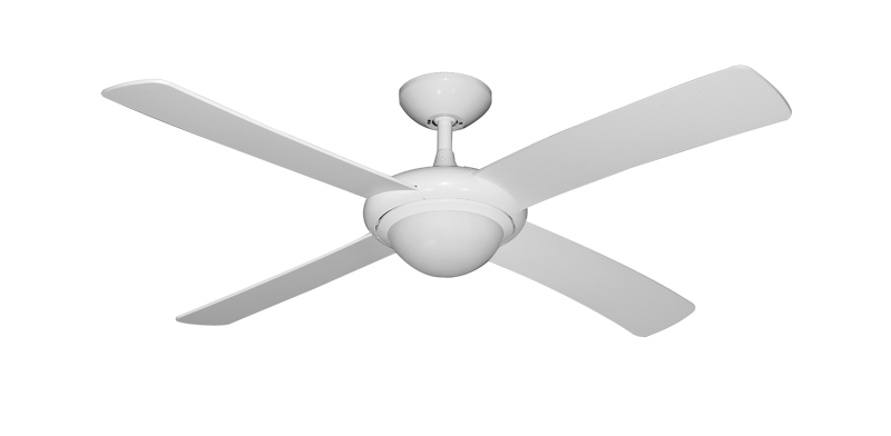 52 luna indoor outdoor ceiling fan and light in pure white dans picture of 52 luna indoor outdoor ceiling fan and light in pure white with remote mozeypictures Choice Image