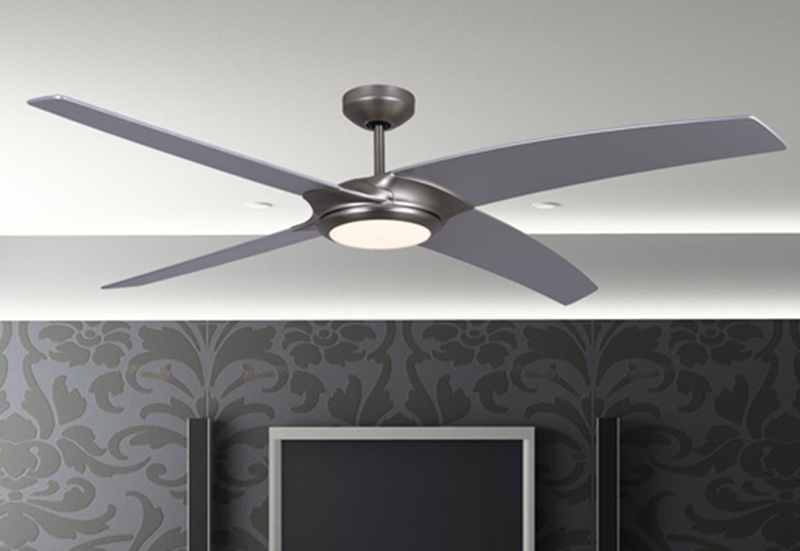 Starfire 56 In Brushed Aluminum Ceiling Fan With Led